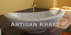 Freestanding Double Slipper Italian Carrera Marble Bathtub. Select from our many different designs and stone options. Artisan Kraft tub can be custom made. Select your stone and style of your tub. Our stone options include: granite, marble, travertine, and limestone. Styles include: slipper, oval, round, double slipper and more. Visit the link below or give us a call.