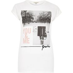 White 'You & Me' print boyfriend fit t-shirt - print t-shirts / vests - t shirts / vests - women