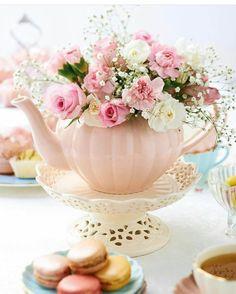 Sommertischdeko - Teeparty