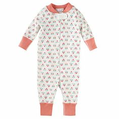 Cutest Hanna Andersson sleeper! Love this for a baby girl.