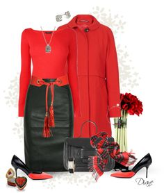 """""""Red & Black"""" by diane-hansen ❤ liked on Polyvore"""