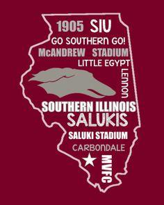 Southern Illinois Salukis Football Digital by MissSouthernFootball, $3.00