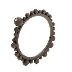 Δαχτυλίδι Huffy με μπίλιες από Κ9 μαύρο χρυσό και διαμάντι e3c77abe5f1
