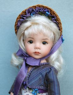 """Dianna Effner -All porcelain 8"""" Artisan Doll """"Louisa""""   Hand painted Limited edition"""