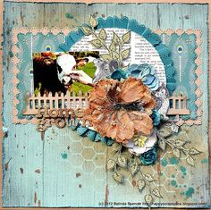 Public Gallery | Manorhouse Creations.....like the flowers, honeycomb & splatter