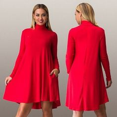 Fashion Women Dress Fall Winter Long Sleeve Big Size Ladies Club Party Dresses Sexy Plus Size Turtleneck Casual Vestidos Long Denim Dress, Red Long Sleeve Dress, Womens Denim Dress, Dress Shirts For Women, Casual Dresses For Women, Sexy Dresses, Midi Dresses, Cheap Dresses, Dress Long