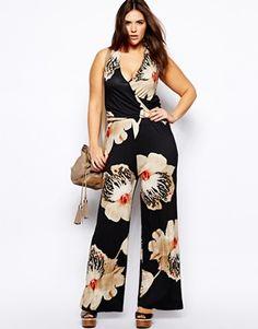bc59185fb1 CURVE Jumpsuit With Halter Neck In Orchid Print. ASOS. Curvy FashionGirl  FashionPlus Size FashionWomens FashionFashion IdeasPerfect WardrobeJumpsuits  ...