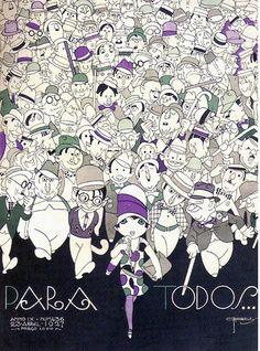 * Couverture du magazine brésilien PARA TODOS Avril 1927 - José Carlos de Brito e Cunha, connu comme J Carlos (1884 - 1950) dessinateur, illustrateur et graphiste brésilien considéré comme l'un des plus grands représentants du style art déco en design graphique brésilien.