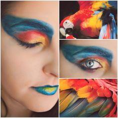 Makeup colors parrot