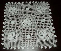 Crochet Tablecloth, Crochet Doilies, Chrochet, Filet Crochet, Diy And Crafts, Diagram, Quilts, Blanket, My Style