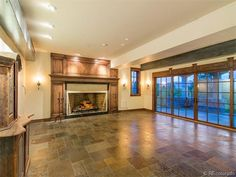 big fireplace at 5074 South Perry Park Road