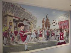Mural in a West Ham fans bedroom - 2014
