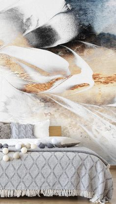This stunning Soothe Your Soul mural is reminiscent of crisp, sunny days walking on a vast beach. See the birds soar overhead and watch the waves crash against the rocks as you relax in your bedroom. Style with a simple wooden bed and neutral bedding. Opt for light grey knitted blankets and pillows and white bedding for a simple and timeless look. Decorate with quirky lights or pompom accessories for a fun bedroom interior to suit both adults and teens alike! Shop the look at Wallsauce.com!
