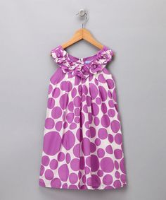 Take a look at this Purple Floral Dot Shift Dress  - Infant, Toddler & Girls by Blow-Out on #zulily today!