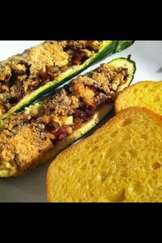 Zucchini boats don't add sour cream or cheese, probably add mushrooms instead.