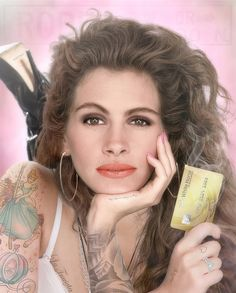 White Knight Colour Tattoo (Julia Roberts) by JJ Adams