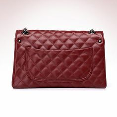 Faux Leather Quilted Chain Shoulder Bag