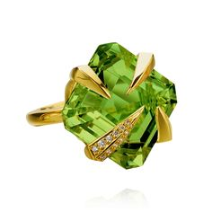 Peridot (AUGUST) and Diamond Ring