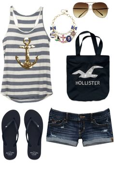I love Love LOVE that top! The anchor and the stripes have a sailor chic look to them! *hint hint*