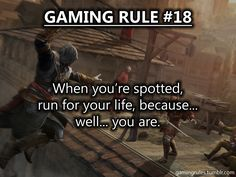 *cough cough* For Honor Gamer Quotes, Gamer Humor, Game Room Kids, Video Game Logic, Lets Play A Game, Gaming Rules, Funny As Hell, Funny Games, Film