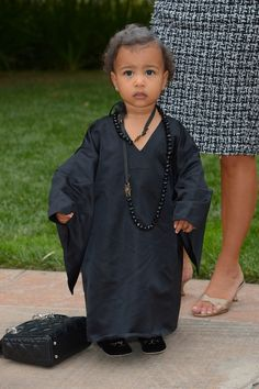 North West dressed as Andre Leon Talley for Halloween 10/31/14