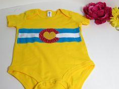 Colorado Onesie  Colorado Flag Baby  baby by GreatfullThreads, $24.00