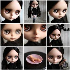 Wednesday - a Mab Girl - custom Blythe doll by Mab Graves