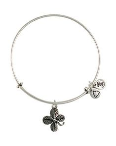 Alex and Ani Lucky Clover Bangle | Bloomingdale's