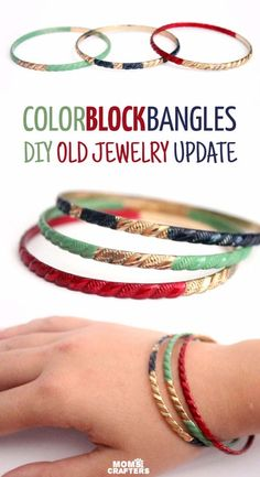 DIY Crafts Using Nail Polish - Fun, Cool, Easy and Cheap Craft Ideas for Girls, Teens, Tweens and Adults   DIY Enamel Painted Bangles