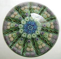 """Currier Collections Online - """"Patterned Millefiori Paperweight"""" by Perthshire Paperweights"""