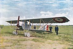 A French warplane in 1914. World War I was the first major conflict to be covered by color photography. (Jules Gervais-Courtellemont/Courtesy of Taschen)