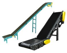 Model 204 Floor To Floor Slider Bed:  The double nose over with bend rollers allows a smooth transition of the product from incline to horizontal thus protecting fragile products.