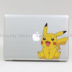 Pikachu Macbook vinyl stickers pro air unibody fun decal art skin cool sticker F  Pichaa