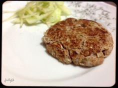 hamburguer de atum com fibra de trigo