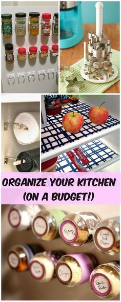 Organize Your Kitchen (On a Budget!) • Great inexpensive kitchen organizing ideas!