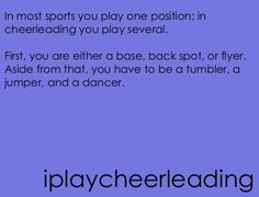 And lets not forget a screamer, facial worker, and gymnast