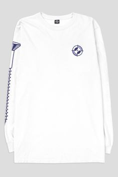 "POWERS ""REGISTRATION SCREW"" LS TSHIRT WHITE"