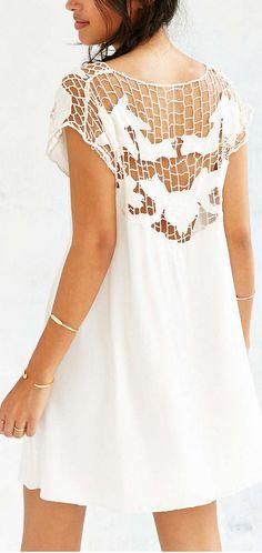 cutwork dress