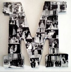 Diy Letter Picture Collage Print Out Pictures In B Amp W On