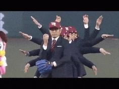 Synchronized Dance Group World Order Throws Multi-Armed Opening Pitch for the 2015 Japanese Baseball Season
