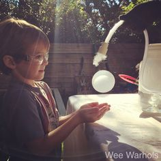 Make Boo Bubbles and Other Dry Ice Experiments- Halloween Science Fun!