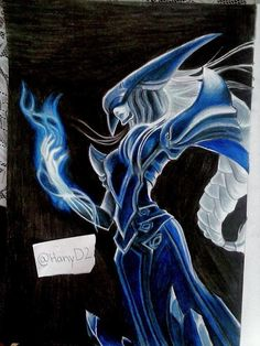 #leagueoflegends #lissandra #lol #games #champion #witch #blue #drawing