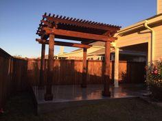 Small cedar pergola Cedar Pergola, Landscaping Company, Arbors, Outdoor Structures, Landscape, Courtyards, Scenery, Outdoor Pavilion, Pergolas