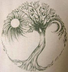 tree tattoo. Probably no sun and moon though.