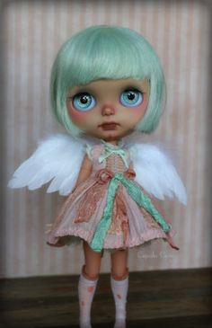 Custom OOAK Blythe Art Doll Halo by Cupcake Curio | eBay