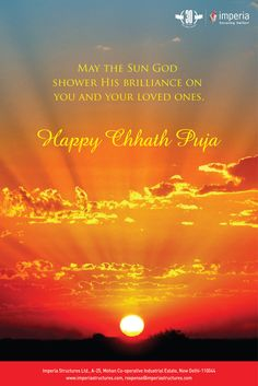 """May the Sun God Shower His Brilliance On you and Your Loved Ones. """"Happy Chhath Puja"""""""