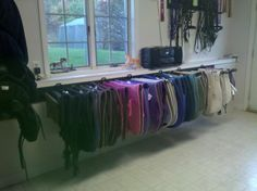 Saddle pad organization - Gotta come up with a functional saddle pad rack that I can make myself!