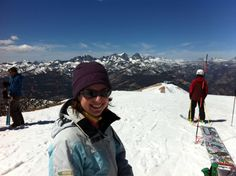 Felix Foods ready to take the cornice in Mammoth Lakes, CA.