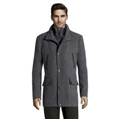 Kenneth Cole Wool Coat In Charcoal $85