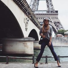 head-to-toe @laredoute_uk at the eiffel between shows today! #paris #pfw #LRfashionweek
